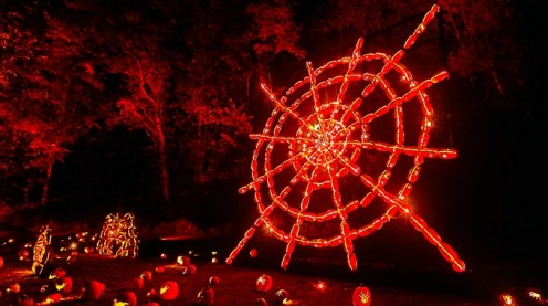 """What a beautiful display this wheel is - a part of the """"Great Jack-o'-Lantern Blaze"""" event. which is held each year during the Halloween season."""