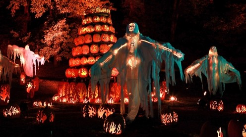 """The """"Great Jack-o'-Lantern Blaze"""" is an exciting ticketed event held each year in the small village of Sleepy Hollow in New York State."""