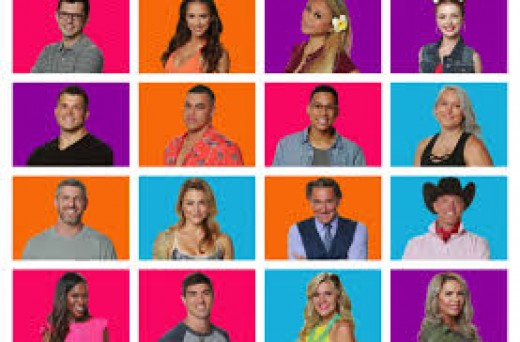 16 originial houseguests. Paul  Abrahamian from Season 18 is not included because he replaced Cameron the first day.