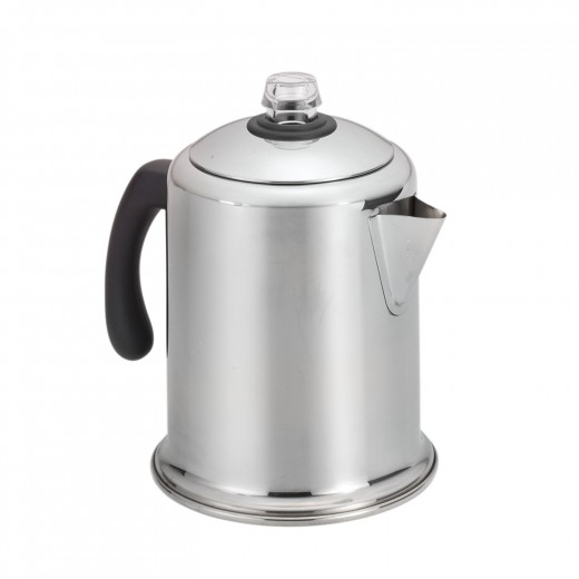 My Cur And Favorite Household Stovetop Percolator The Farberware Clic Stainless Steel Yosemite 8