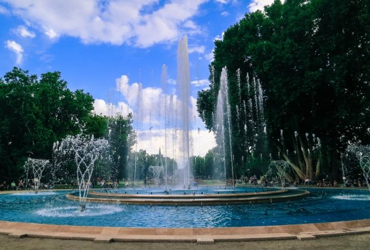 The Musical Fountain on Margaret Island - operated during the summer