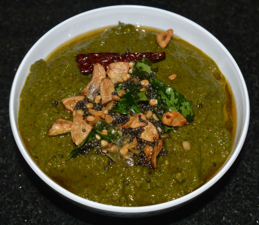Moringa(drumstick) leaves chutney