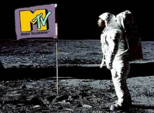 The moonman and the flashing MTV logo on the flag became the iconic symbol for the network.  While starting out very small, it allowed more creativity for musicians and changed the music landscape.