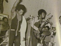 A Photo from the publication of the Godfather of Soul, James Brown's appearance at the Apollo.