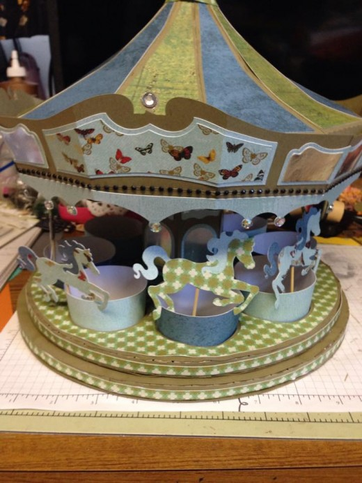 A paper carousel.