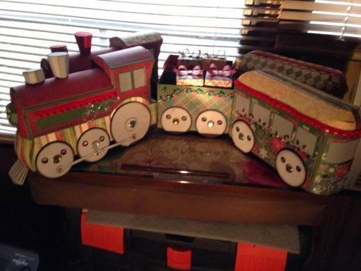 Your kids might want to put this paper train on a track, but it's just decorative.