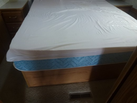 Showing both mattress and topper