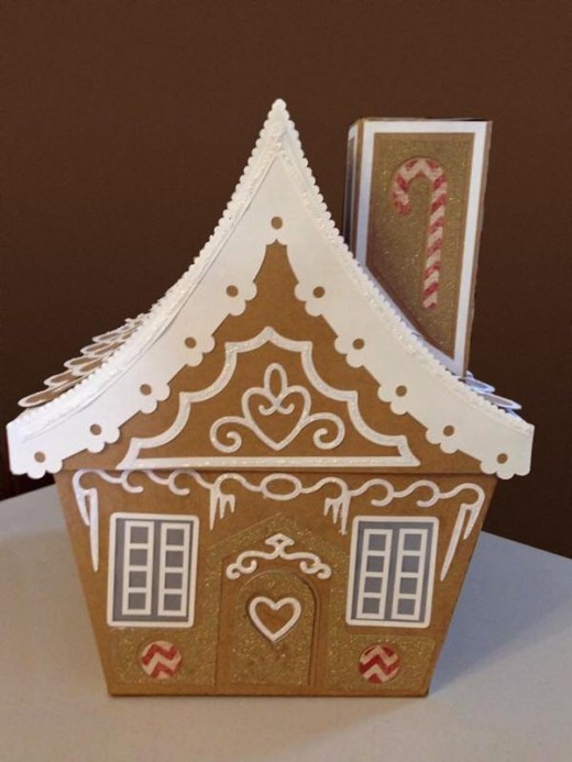A gingerbread house made of paper.  It looks like it could be delicious!