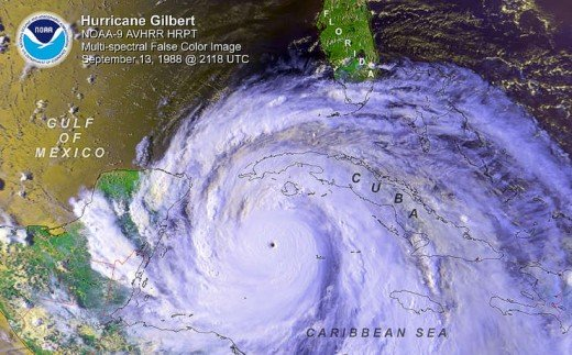 1988's Hurricane Gilbert. It devastated the Caribbean with 185 winds and a pressure of 888 millibars. Imagine if a bigger version of that storm were to make landfall in Florida and slow down?