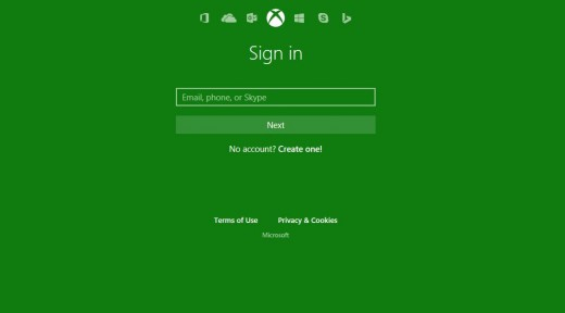"""Enter the email address associated with your Xbox Live account, and then click the green """"Next"""" button."""