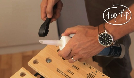 Cut the sealant tube nozzle at a slight angle.