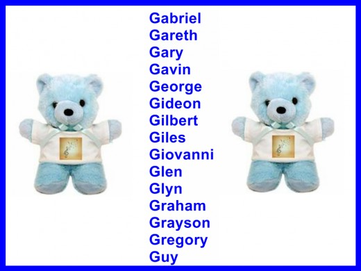 Boys Names Starting With G