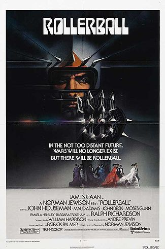 "Poster for ""Rollerball""."