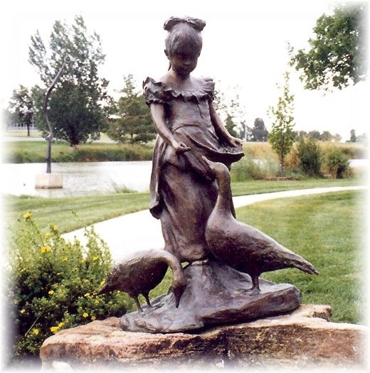 One of the over 100 sculptures found in Benson Park
