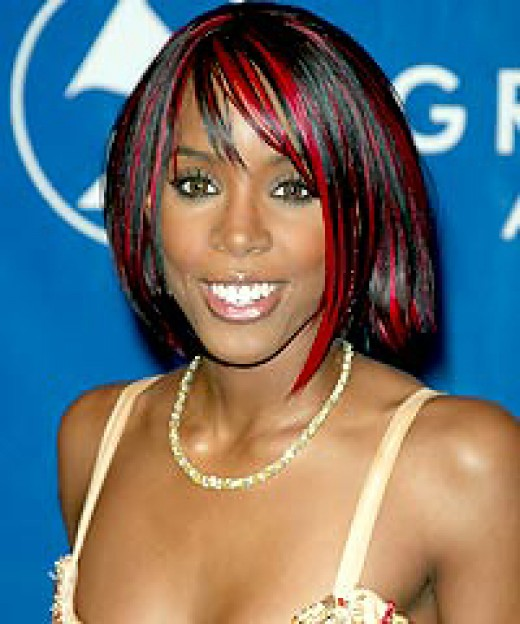 Try clip on hairpieces to add color like singer Kelly Rowland