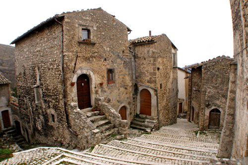 Rocca Calascio the higher village