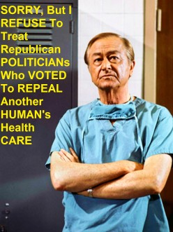 "Should Donald, Barron, Melani AND Republicans Be Subjected 2 The GOP ""HealthCARE Holocaust"" Scheme?"