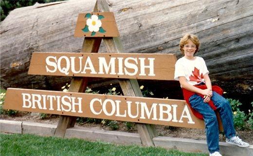 My niece in Squamish, Canada