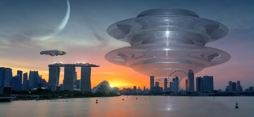 Dreams of space businesses: hotels, restaurants, ports.