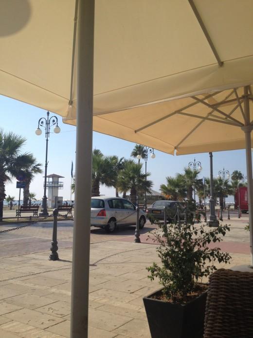View of Larnaca Seafront Promenade