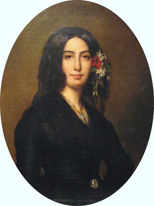 Portrait of George Sand - pseudonym for Armandine Aurore Lucie Dupin