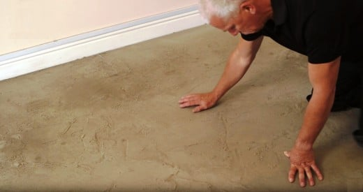 Inspect the floor to see if any repairs are needed.