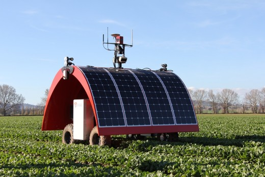 Robots are being developed that can work in farm fields to tend to crops.