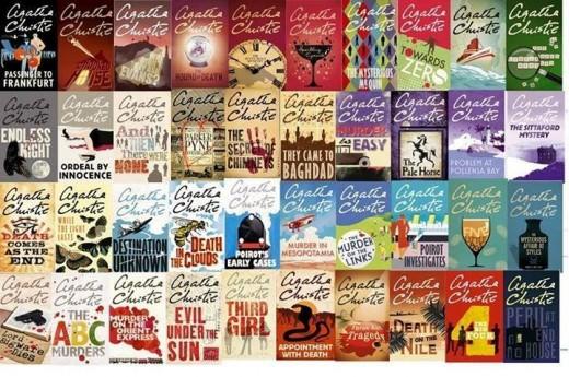 Agatha Christie's book covers