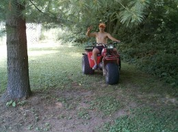 ...that Alberto drove a threewheeler