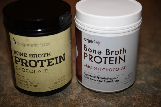 Organixx Bone Broth. The left bottle was before the name change. The right is the product they now have with their new name.