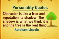 Care About Your Character Not Your Image