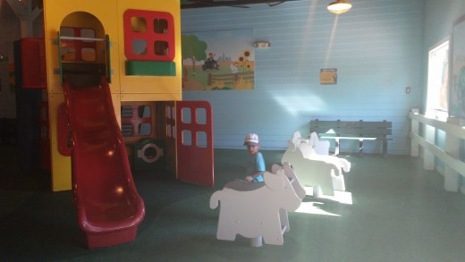 Inside the indoor playground in Duplo Valley