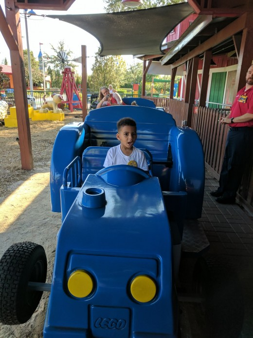 Tractor ride in Duplo Valley