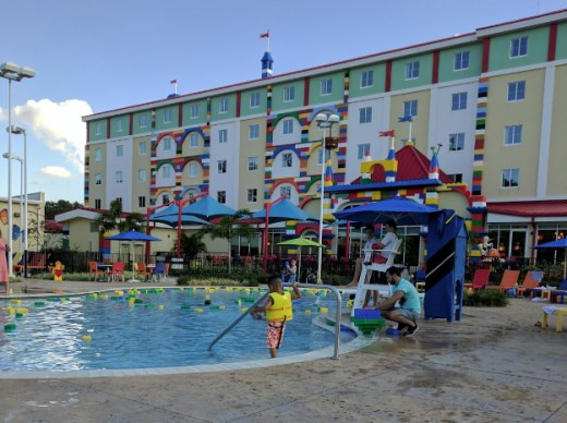 The pool at Legoland Florida