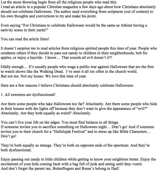 why christians absolutely should celebrate halloween