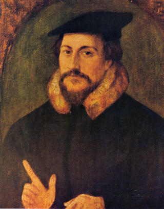 This is French Theologian John Calvin who has a knowledge of series of writing about salvation