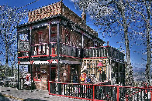 One of the many eclectic buildings in Jerome, AZ.
