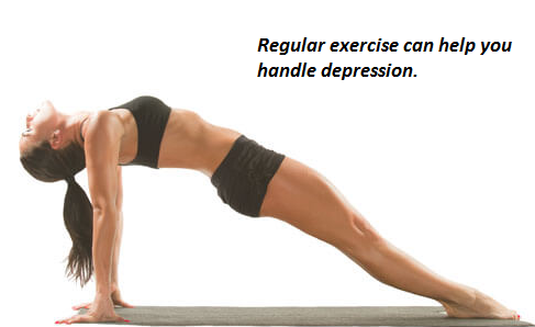 You can handle depression by engaging in regular exercises.