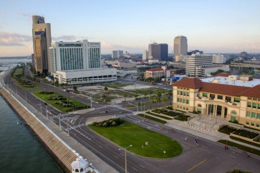 Downtown Corpus Christi , Texas Skyline