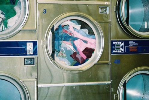 This is a great example of a variety of colors of clothes in a washing machine. Take a look for some of this Halloween costume inspiration.