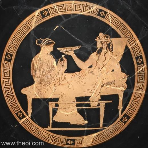 Hades and Persephone, 5th B.C., British Museum