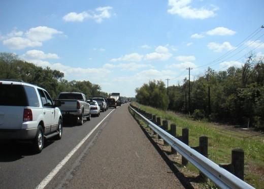 Rush hour traffic in Texas