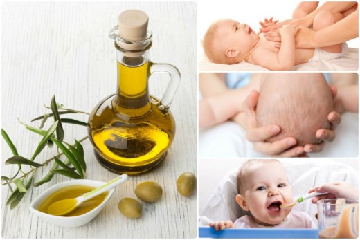 Use olive oil to remove baby's body hair