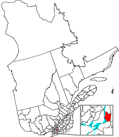 Map location of Longueuil