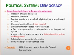 Difference between the Political Systems of France and India