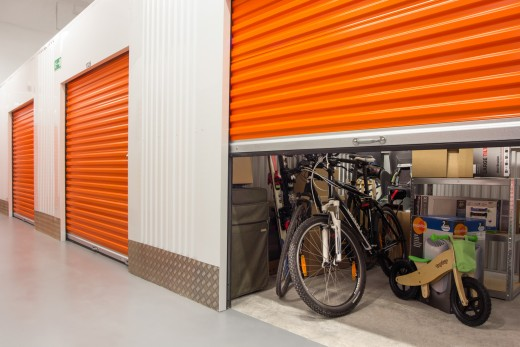 A unit storing various belongings