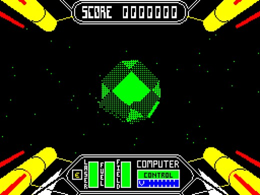 Amazing two tone solid vectors in Starstrike 2 on the ZX Spectrum