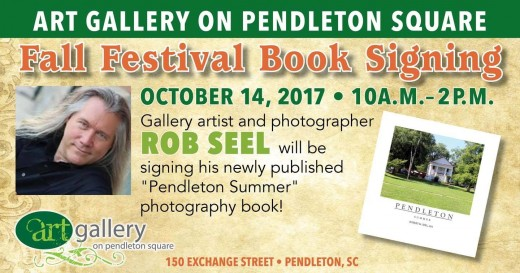 Rob Seel will be at the Gallery to sign his new book.