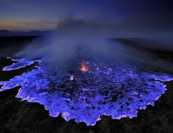The Perplexing Phenoma of Blue Lava