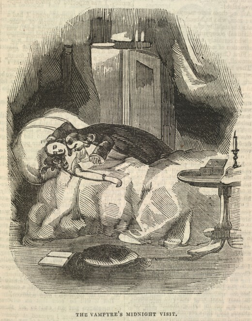 A vampire's visit to his victim at midnight. An all-too-often used motif in Early Modern Period folklore giving way to l iterature such as Stoker's Dracula.